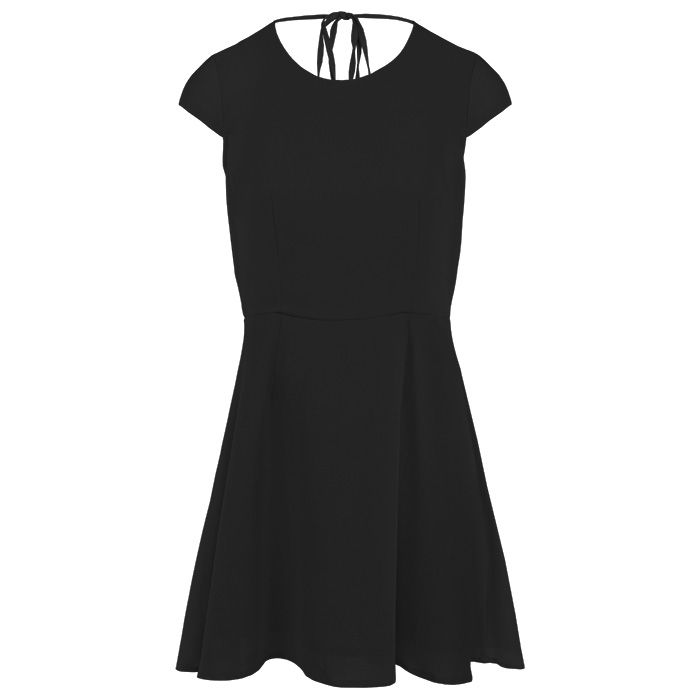 Open Back Skater Dress - Black