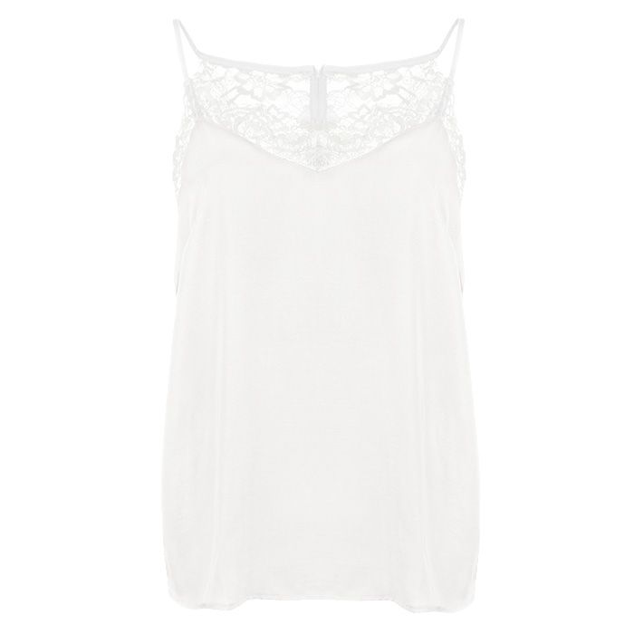 Lace Cami Top - White