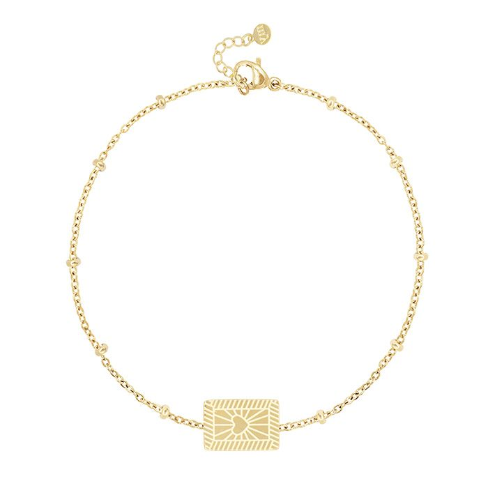 My Jewellery armbandje met ruitvormig bedeltje en hartje