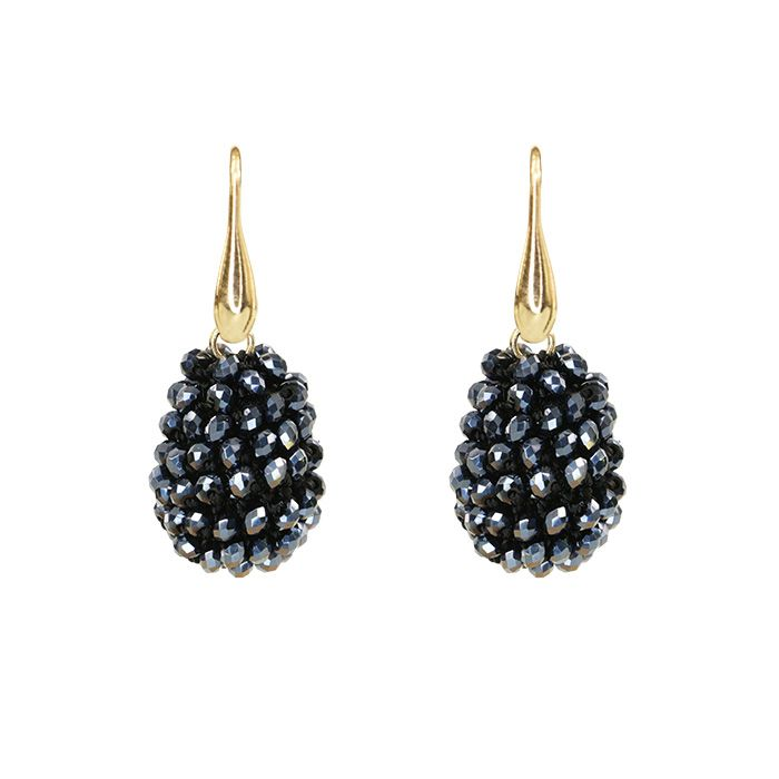 Blue Crystal Beads Teardrop