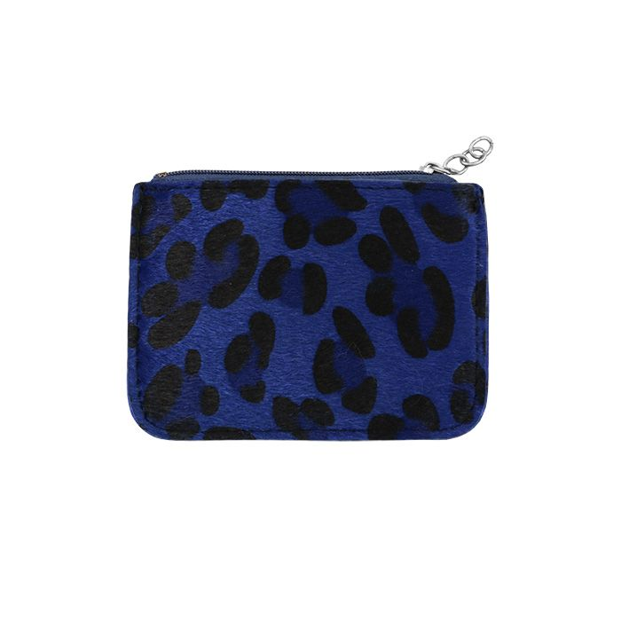 Blue Small Leopard Wallet