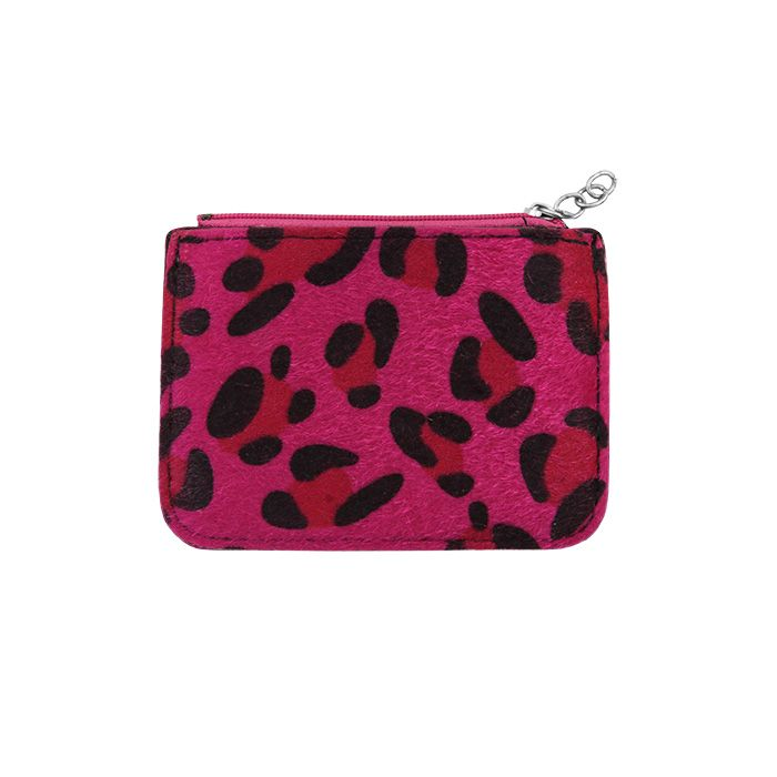 Pink Small Leopard Wallet