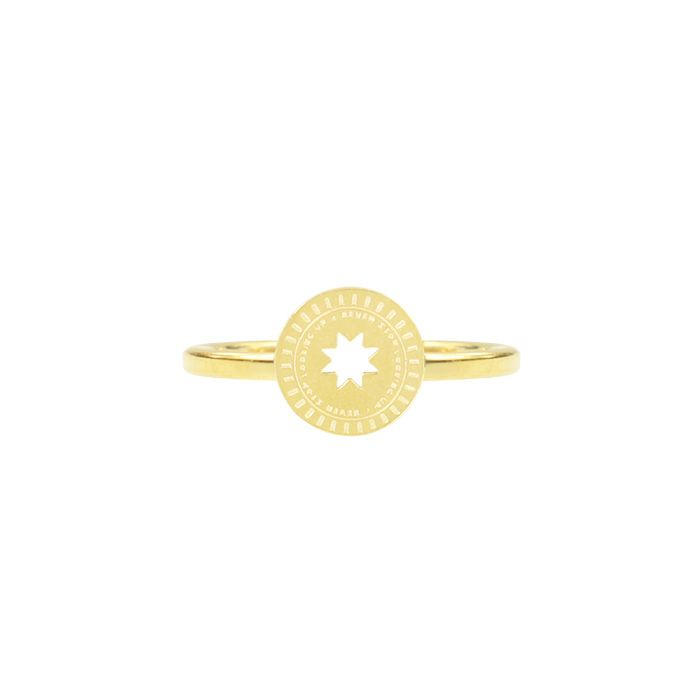 ring munt met ster goud my jewellery