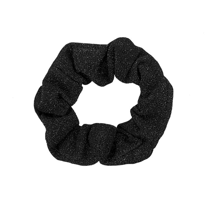Zwarte glitter scrunchie My Jewellery