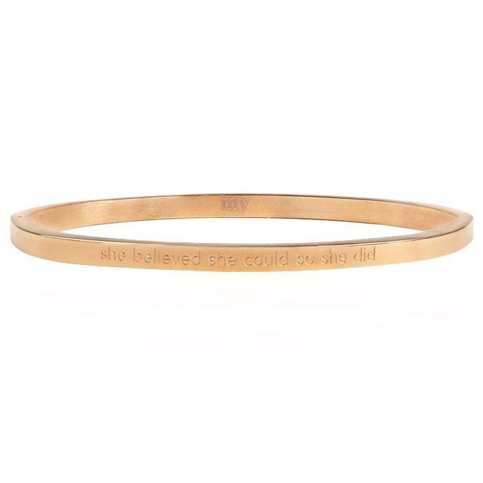 Bangle quote rose goud believe