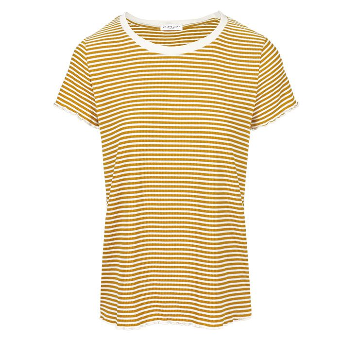 My Jewellery Geel wit gestreept shirt, Shirts dames