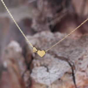 Double Heart Necklace - Gold/Silver/Rose