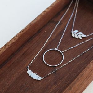 Feather Necklace - Gold/Silver/Rose