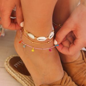 Shell Bracelet & Anklet - Brown