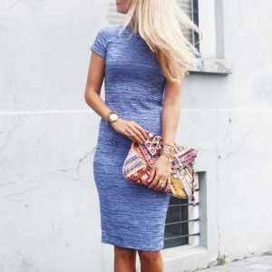 Pencil Dress - Blue