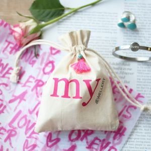 My Jewellery Linen Bag