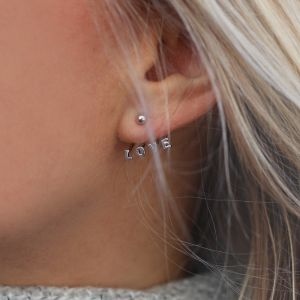 Stud Earrings - LOVE