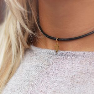 Open Triangle Choker - Gold/Silver