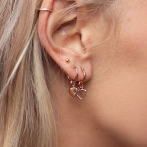 Small Heart Hoops - Gold/Silver/Rose