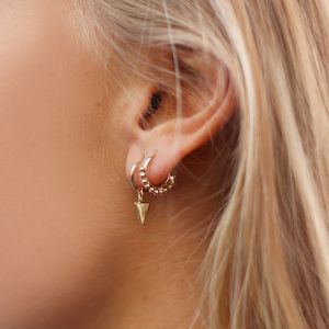 Small Round Drop Hoops - Gold/Silver/Rose