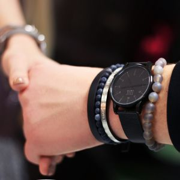 Mr. Jewellery Beads Bracelet - Grey