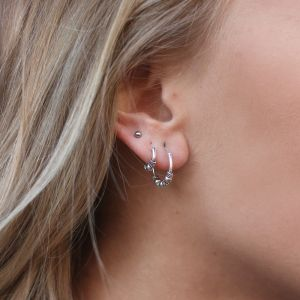 Small Silver Hoops - Little Bead