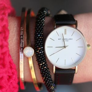 It's The Little Things In Life Bangle - Rose