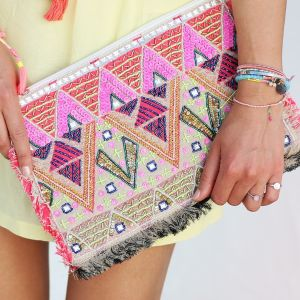 Multicolor Ibiza Clutch
