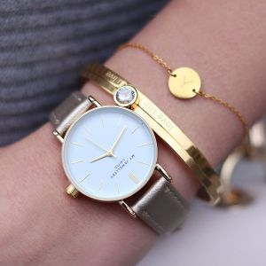 Love The Life You Live Bangle - Gold