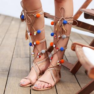 Coachella Pompon Sandals