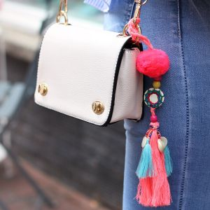 Tassel & Shell Bag Accessory - Multicolor