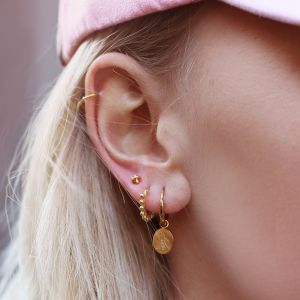 Earstuds Knot - Gold/Silver