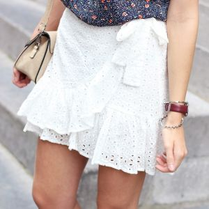 Lace Ruffle Skirt - White