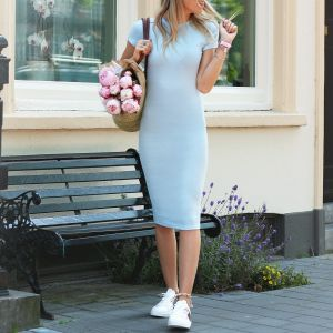 Pencil Dress - Light Blue