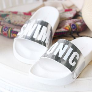 Swim & Tonic Slippers - Silver