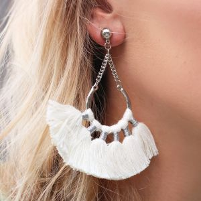 Boho Earrings Creme - Gold/Silver