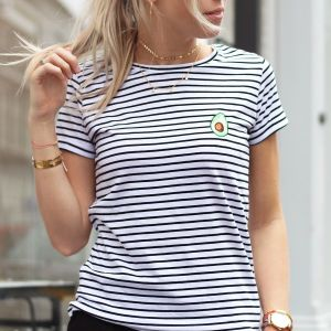Striped Avocado T-shirt