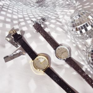 My Jewellery limited watch small 2.0 - brown glitter/silver