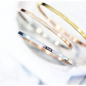 Be your own kind of beautiful bangle - rosegold