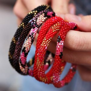 Little Beads Bracelet - Gold/Red