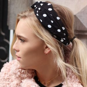 Polkadot Headband – Black