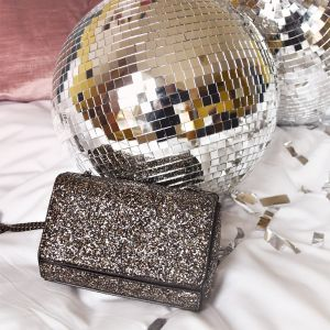 Crossbody Chain Clutch - Glitter