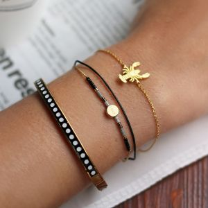 Dotted Bangle - Gold/Silver/Rose