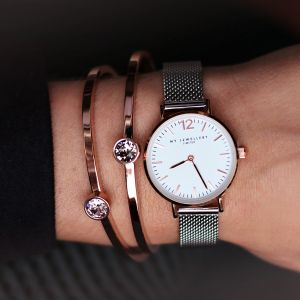 My Jewellery Small Bicolor Watch - Silver/Rose/White