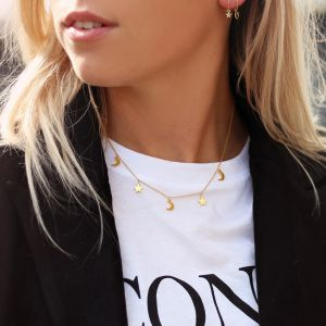 Moon & Stars Necklace - Gold/Silver