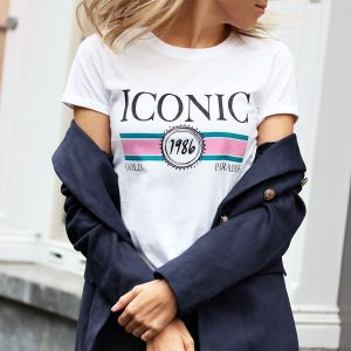 Iconic Graphic T-shirt - White/Pink