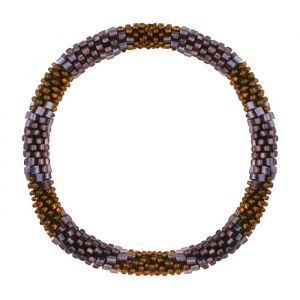 Little Beads Bracelet - Rust Brown/Purple