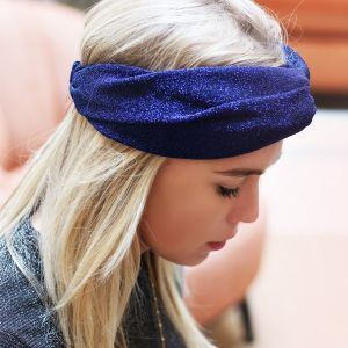 Glitter Headband - Blue