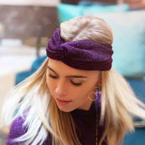 Glitter Headband - Purple