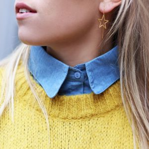 Denim Collar - Light Blue