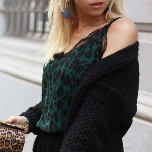 Leopard Top 2.0 - Green/Black