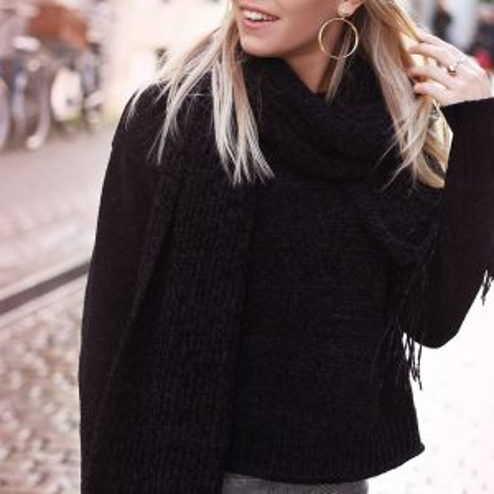 Chenille Sweater - Black