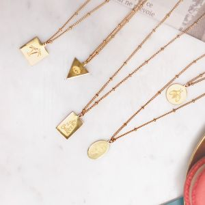 Pendant Necklace - La Vie Est Belle - Gold/Silver