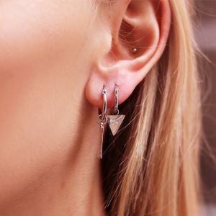 Charm Earring - Triangle Eye - Gold/Silver