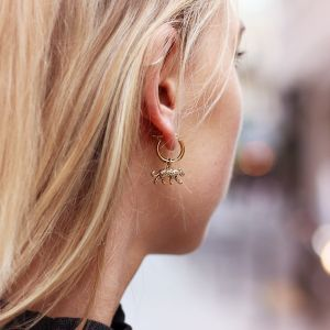One Piece Earring - Leopard